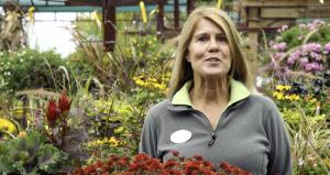 video still of interview in garden